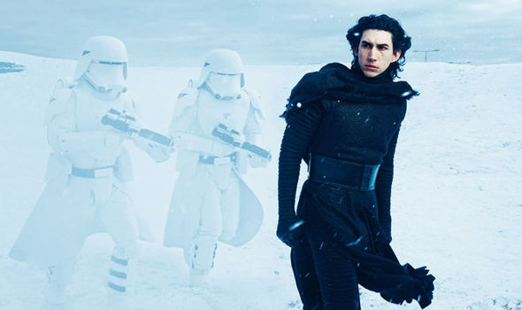 driver as kylo in the snow