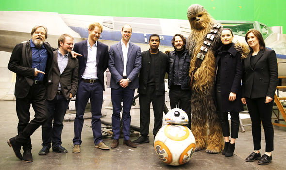 The royals with Star wars cast on set