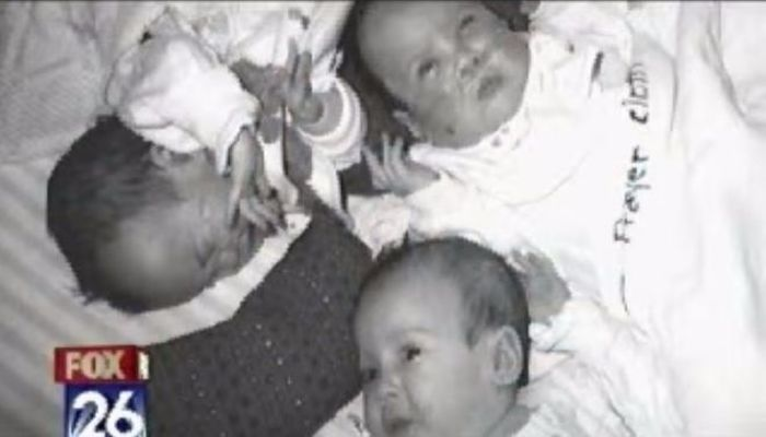 Liz gave birth to identical triplet girls at just 24 weeks.