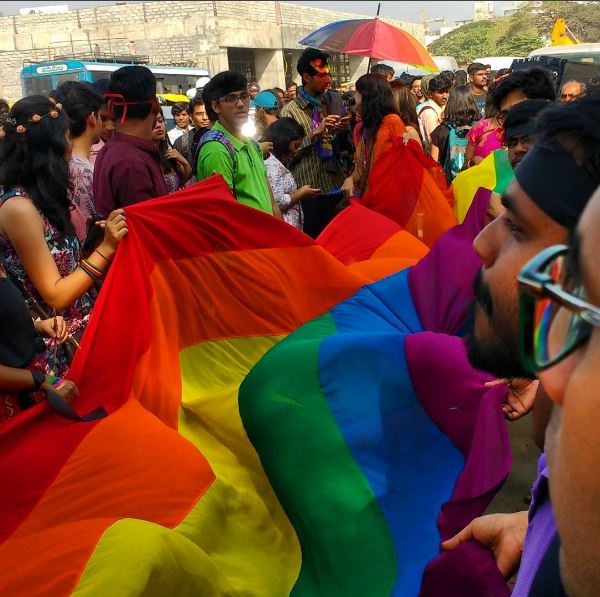 The rainbow-colored flag took charge of the NammaPride Parade.