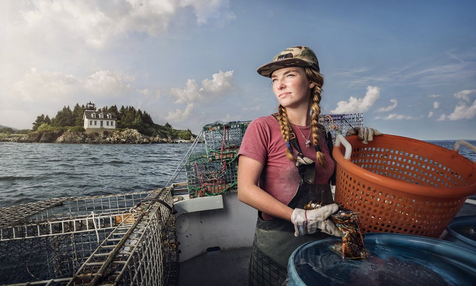 1. Sadie Samuels is a Lobster Fisher from Rockport, ME.