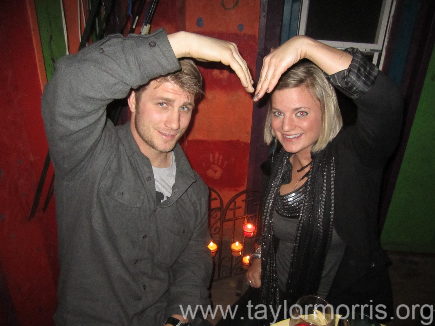This image is of 7 years back, Taylor with his girlfriend Danielle.