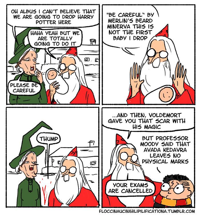 When Dumbledore Left Baby Harry At The Door