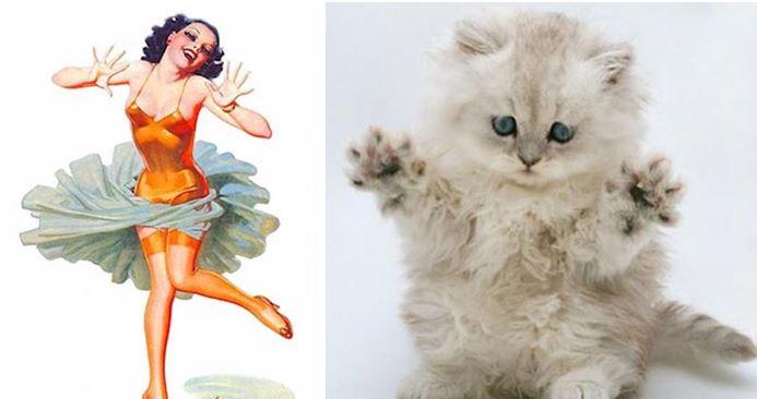 Dancing like a cat!