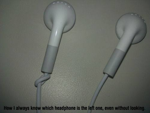 how i always know which headphone is the left one