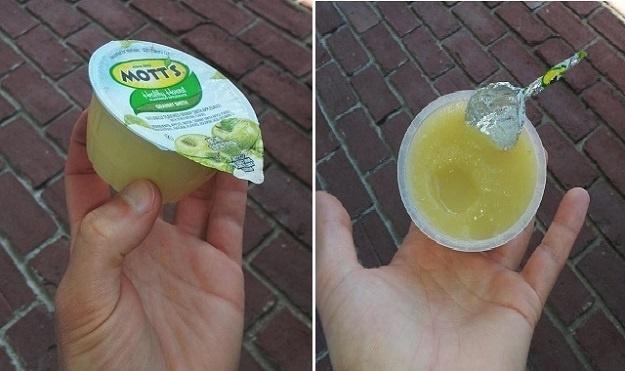 Applesauce and Yogurt