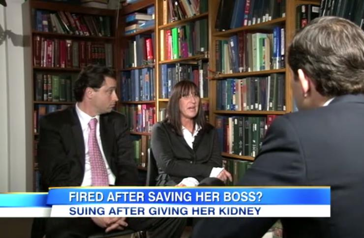 Woman fired after donating kidney to boss