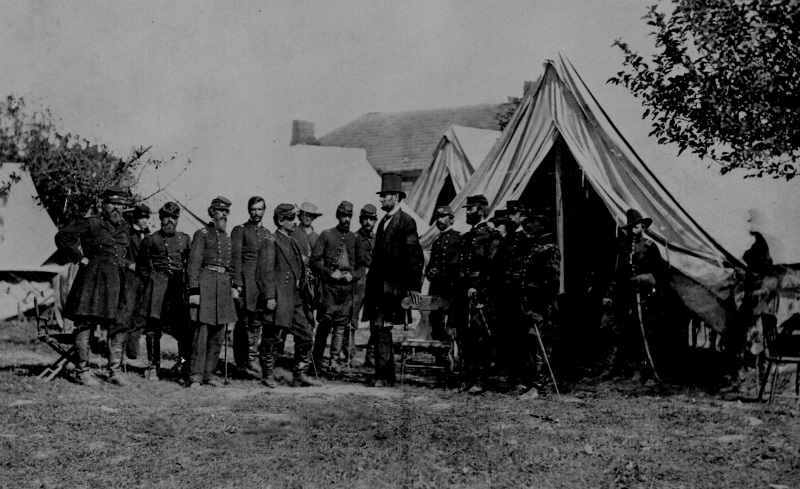 Lincoln Visiting Antietam