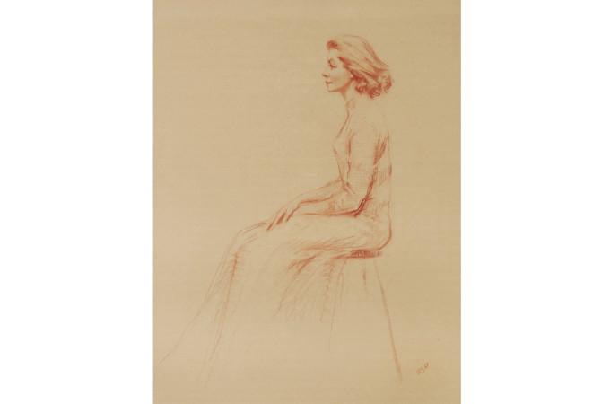 Aaron Shilker Sketch Of Lauren Bacall