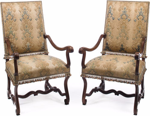 Bacall's Antique Louis XIII Walnut Fauteuils Sold For $1,875