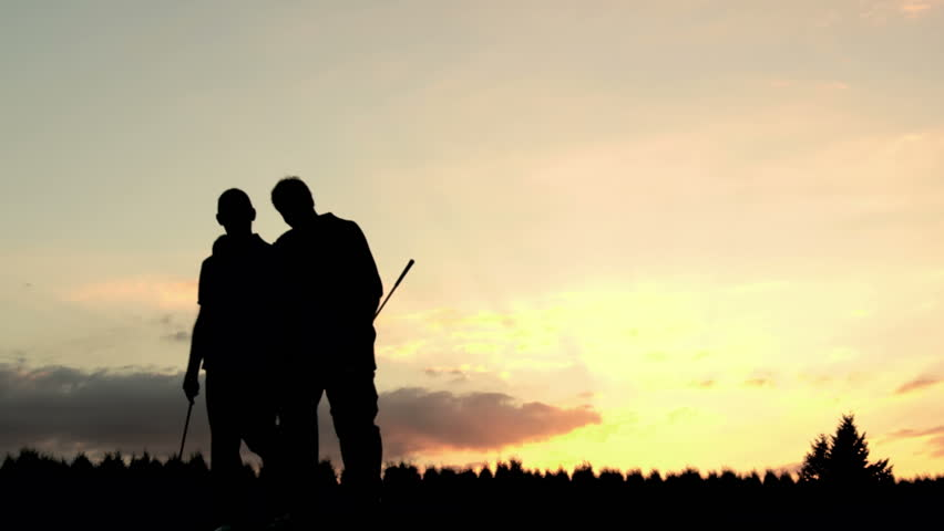 Image result for 2 men walking towards sunset