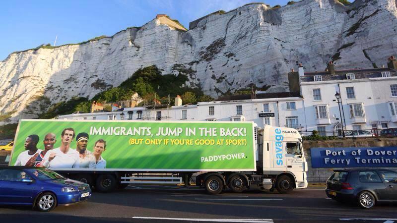 paddy power, marketing fails, ad on lorry