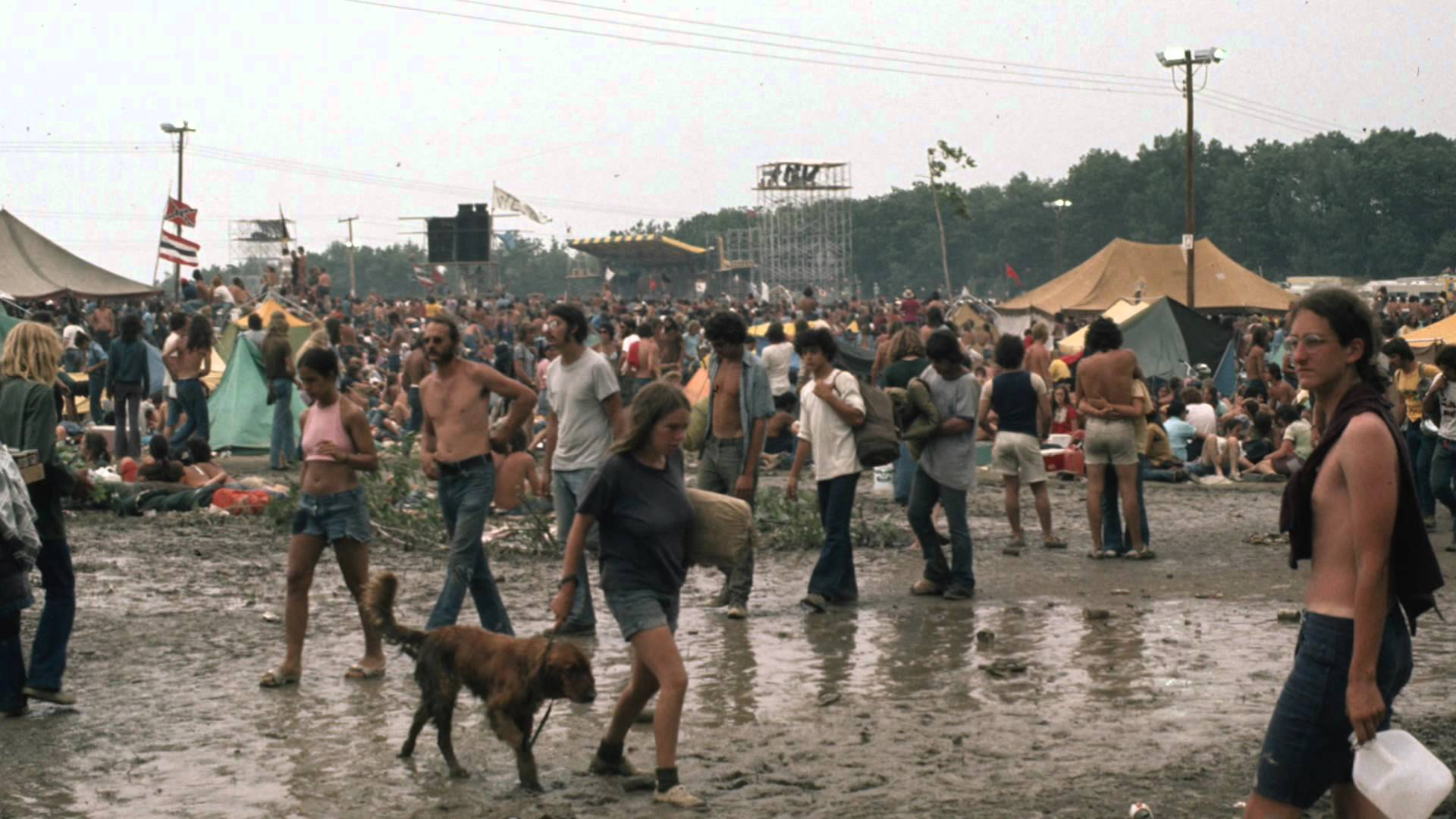 Cool Pictures of Fans at 1973 Summer Jam Rock Festival at