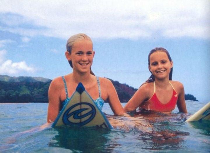 bethany hamilton alana blanchard surfing kauai hawaii