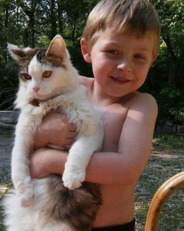 Kaydon Leach and His Cat