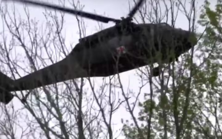 Blackhawk Army Helicopter