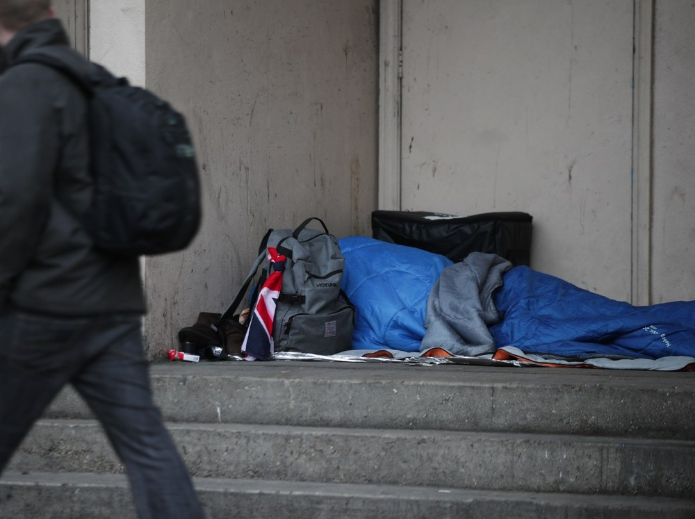 Image result for homeless man street